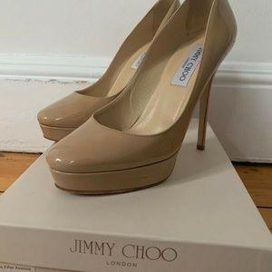 Jimmy Choo Cosmic Platform Pump Size 38 Nude